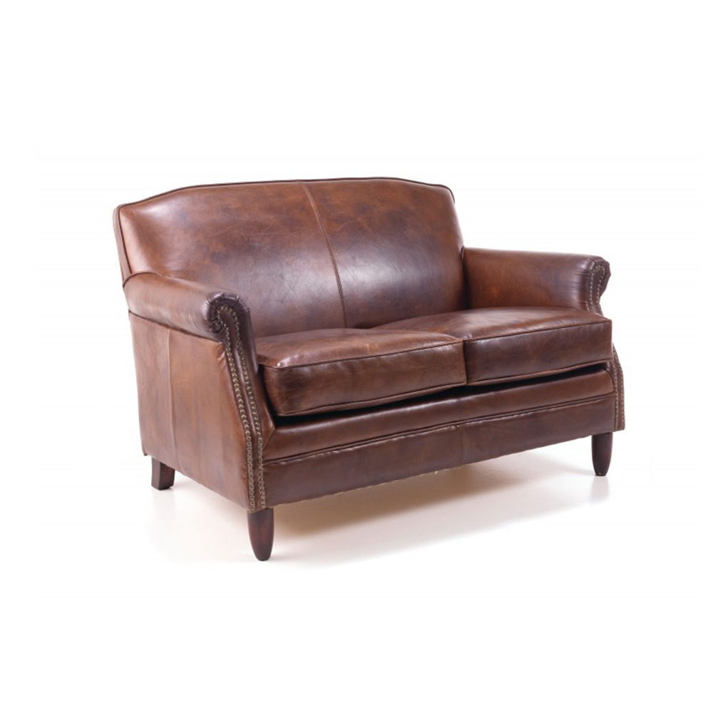 Leather Furniture Traveler Collection: Vintage Leather 2 Seater Sofa