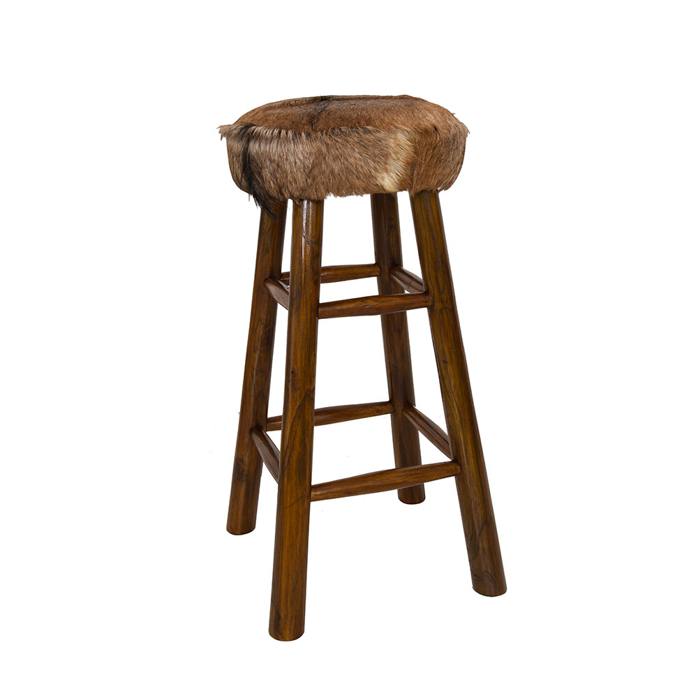 Tall Bar Stool Cow Hide Collection Quality Furniture