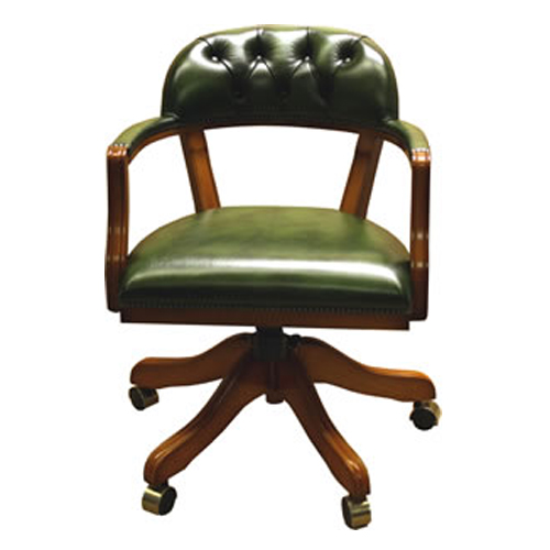 Court Swivel Chair Choice Of Leather Colours Reproduction Furniture