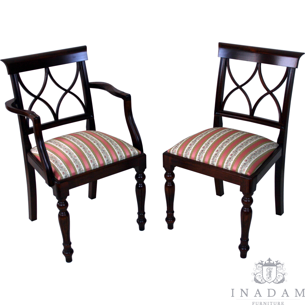 Antique Reproduction Dining Room Chairs: Hour Glass Dining Chairs