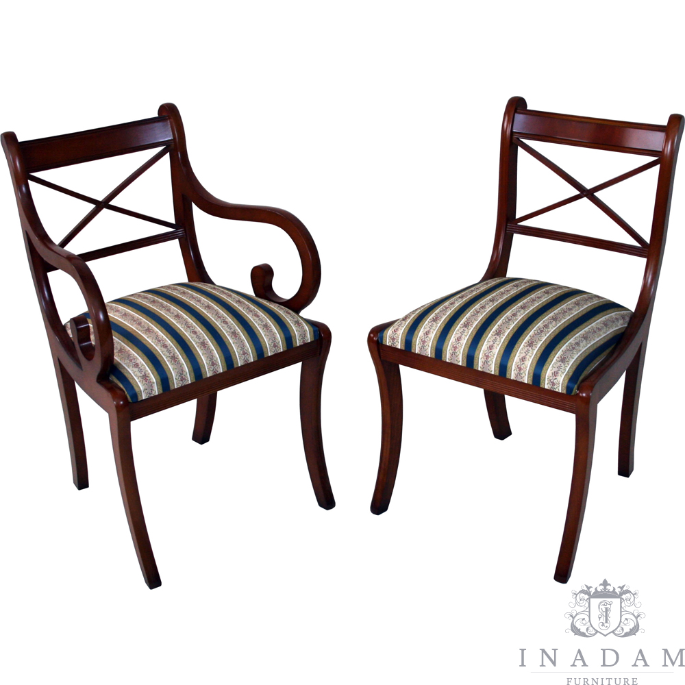 Cross Stick Dining Chairs Reproduction Furniture Quality Furniture Handmade Furniture Antique Reproduction Furniture Mahogany Yew Walnut Furniture