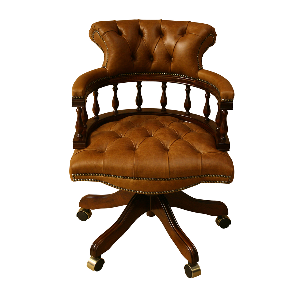 Enjoyable Captains Chair Choice Of Leather Colours Reproduction Furniture Uwap Interior Chair Design Uwaporg