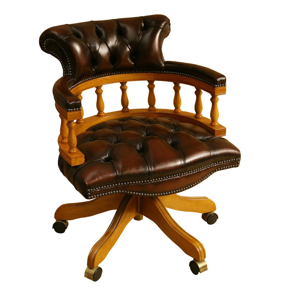 Captains Chair Choice Of Leather Colours Reproduction