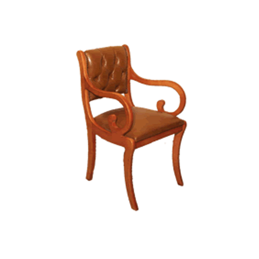 Enfield Half Saddle Chair - Choice of Leather Colours - Reproduction  Furniture