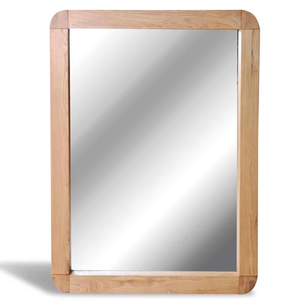 Oak Mirror 60 X 60cm Natural Retro Oak Quality