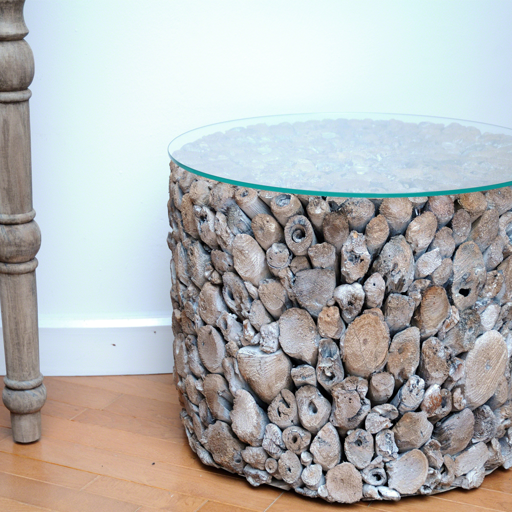 Driftwood Drum Lamp Table Driftwood Furniture Quality Furniture