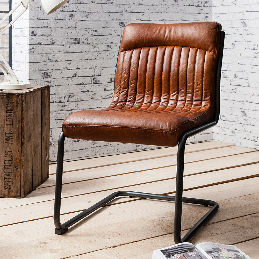 Docklands Leather Chair Industrial Seating Collection