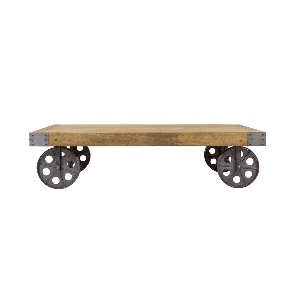 Coffee Table On Wheels Industrial Furniture Quality Furniture