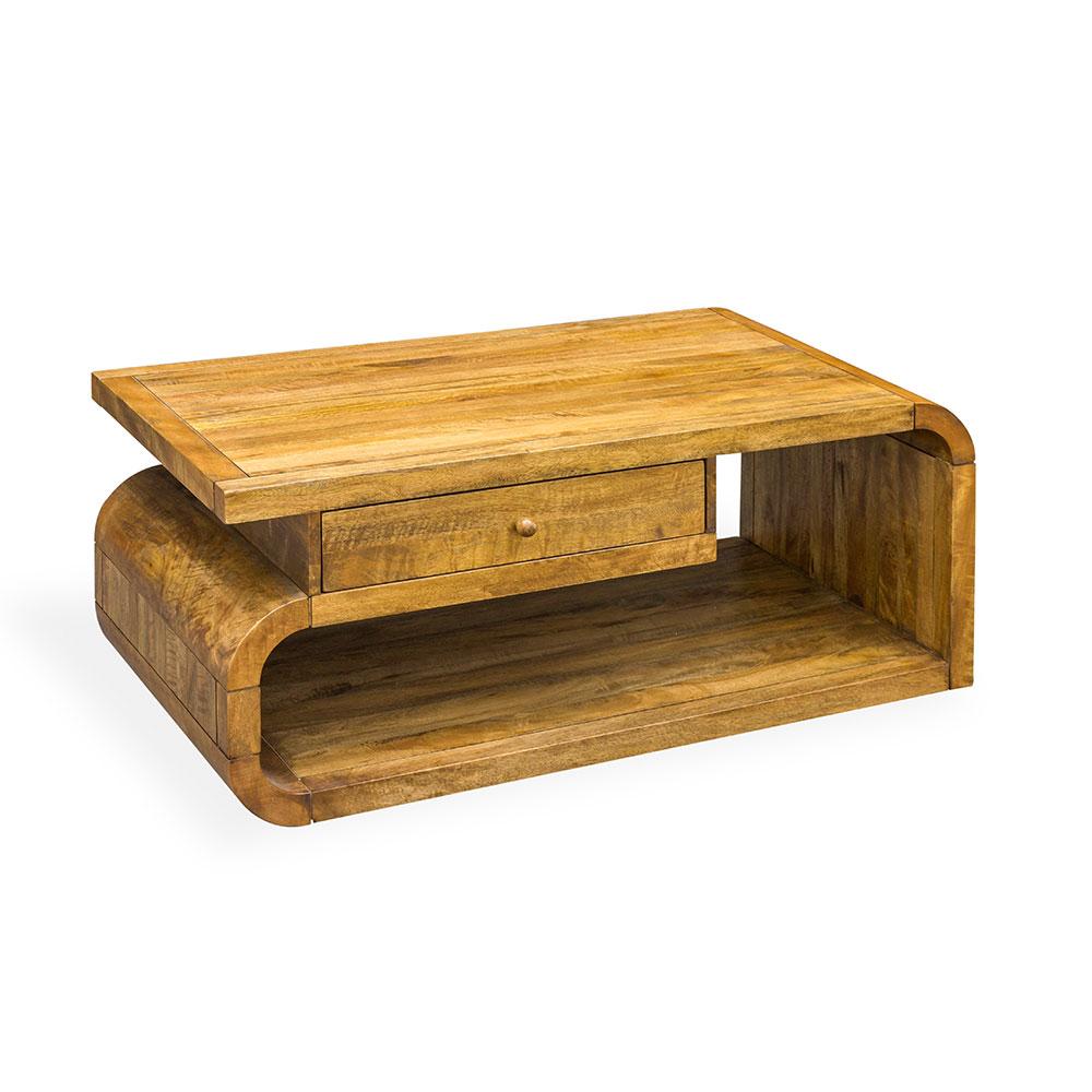 Coffee Table With Drawer Retro Mango Wood