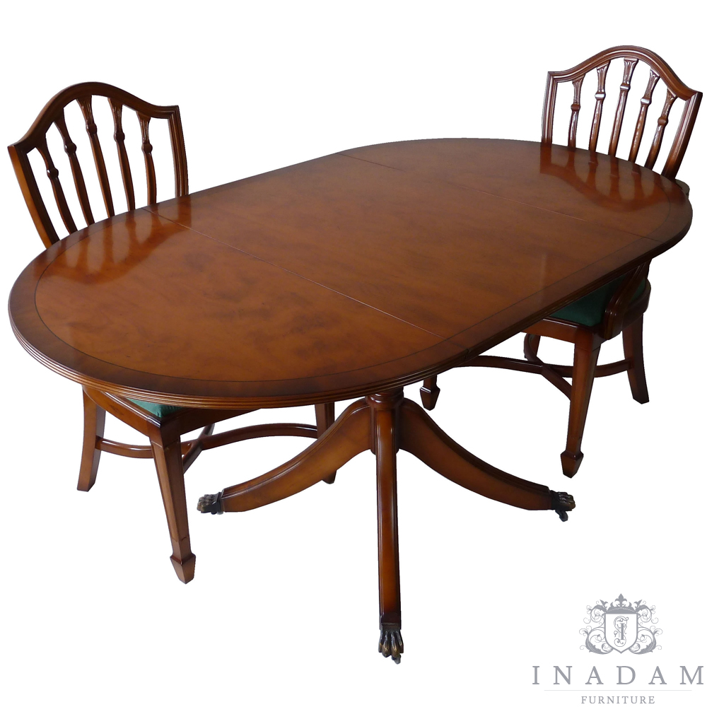 Pembroke Dining Table Mahogany Yew Reproduction Furniture Quality Furniture Handmade Furniture Antique Reproduction Furniture Mahogany Yew Walnut Furniture