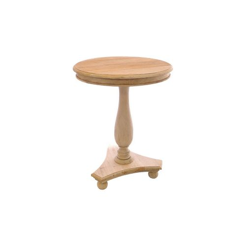 Tall Round Wine Table with Bun Feet