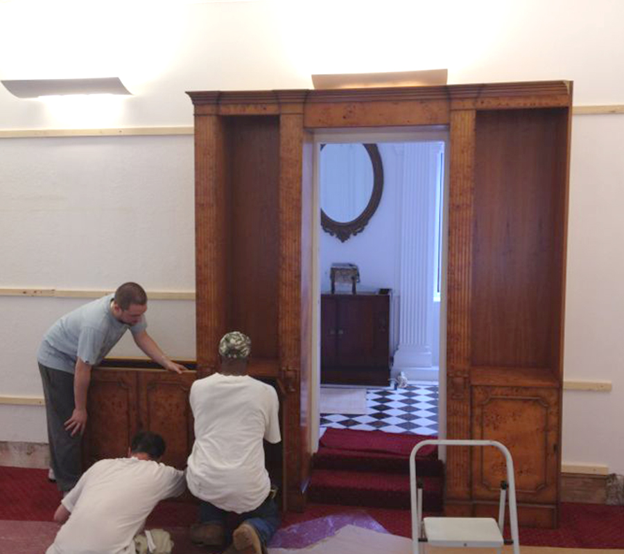 Bespoke Bookcase installation