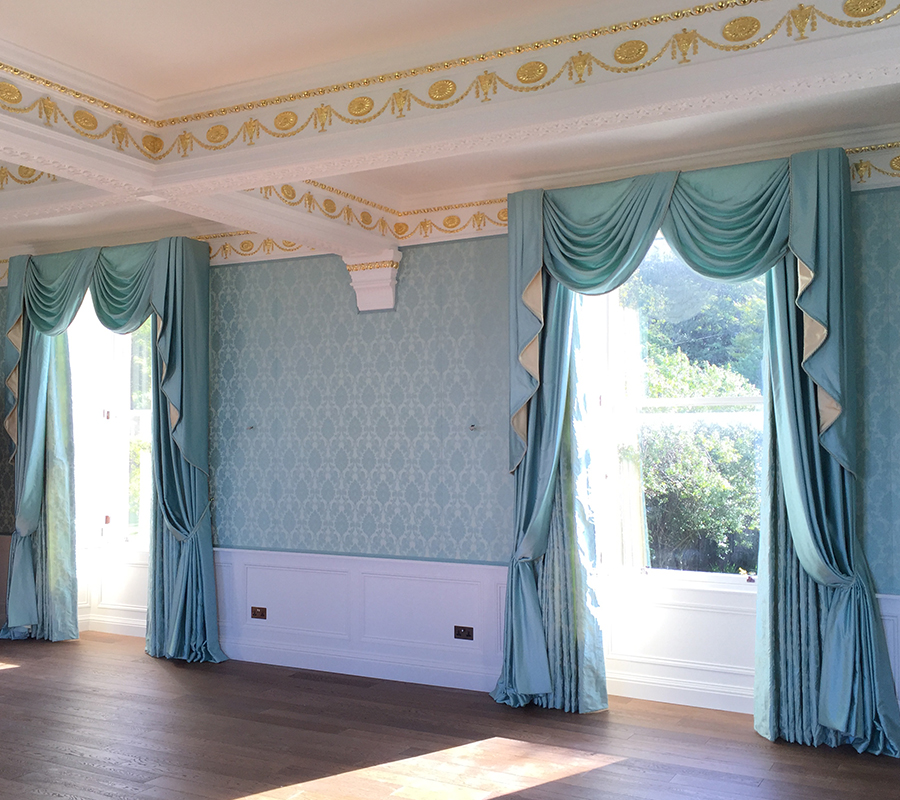 traditional style of fabric walling.