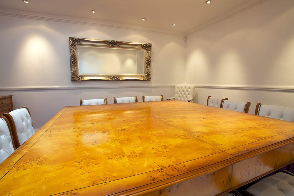 Bespoke contemporary conference room view 2