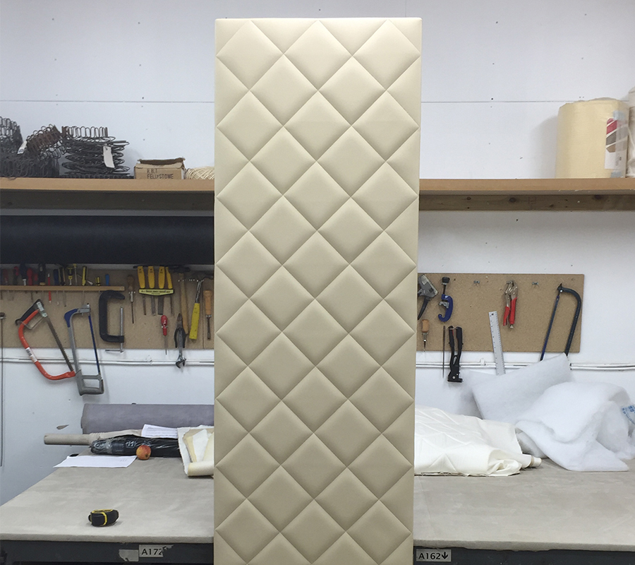 Panel Walling in Fabric or Leather