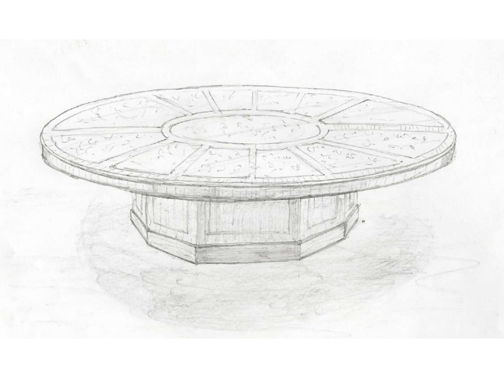 Sketch of how the bespoke table could look