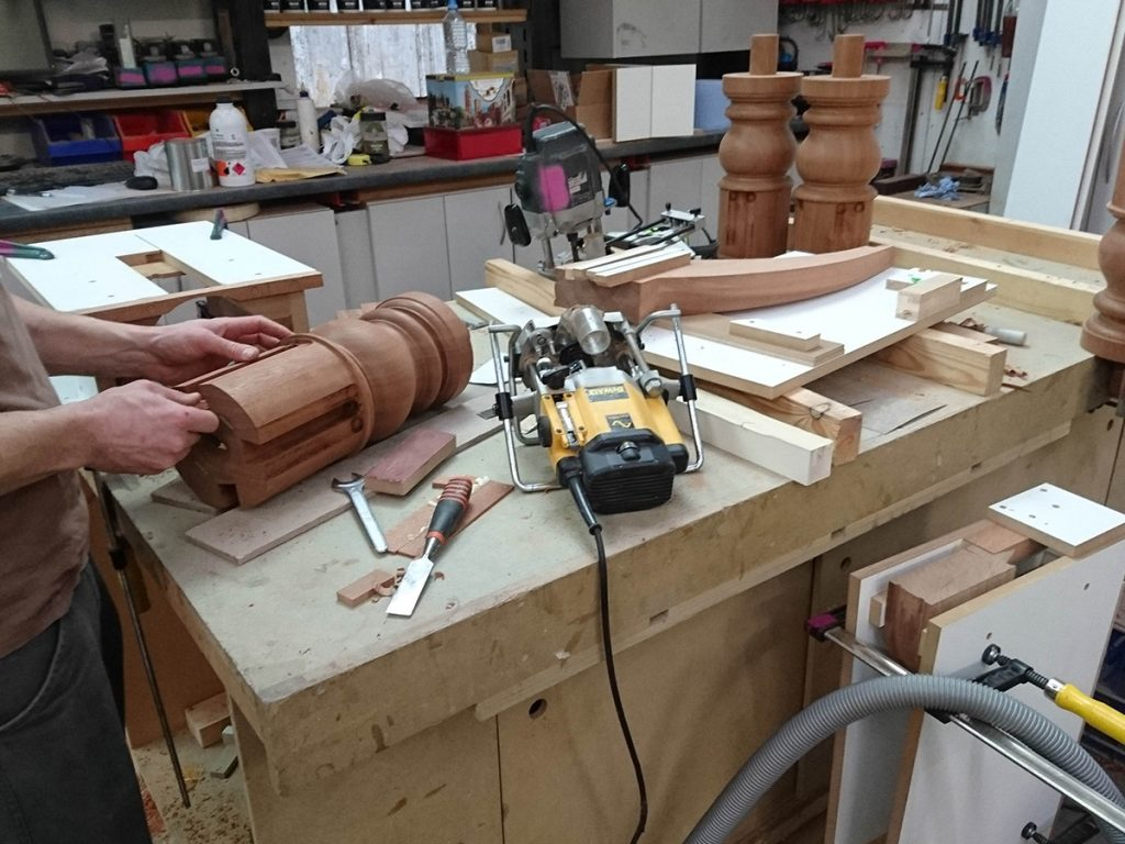 Making pedestals for bespoke table