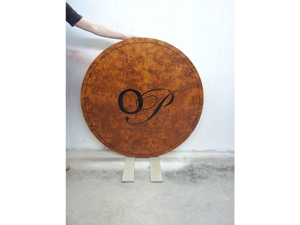 Poplar table top polishing