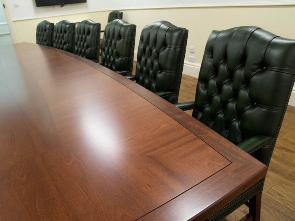 bespoke mahogany conference table from inadam furniture