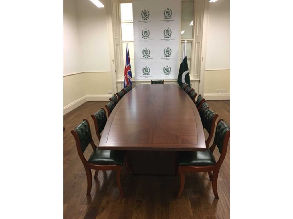 bespoke mahogany conference table