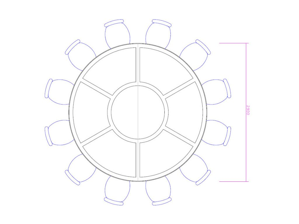 CAD designs for bespoke conference table