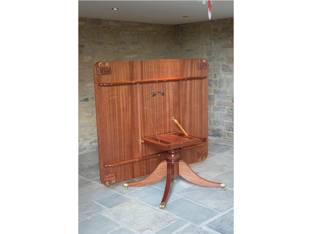 Underside of bespoke mahogany dining table
