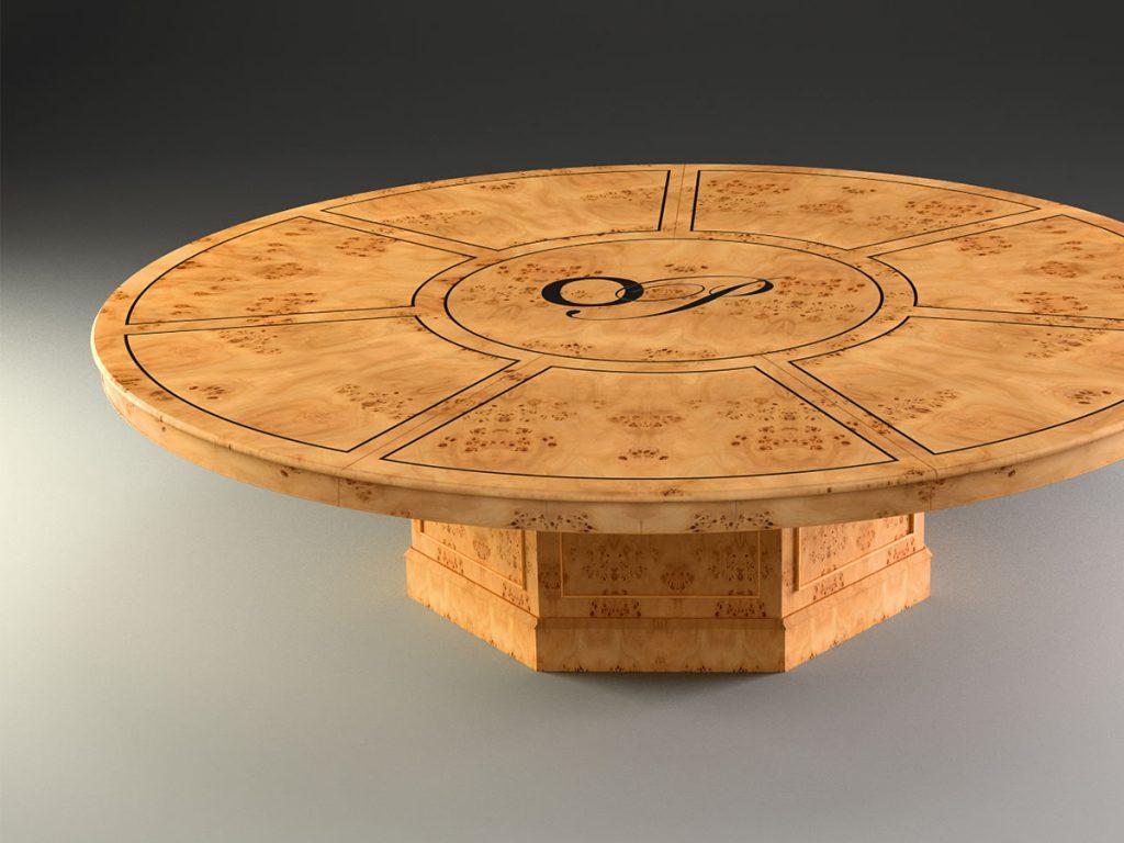 3D Model of bespoke poplar conference table