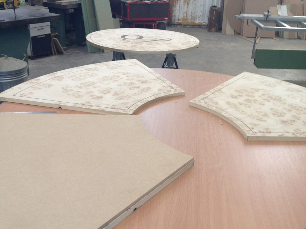 Manufacturing of conference table tops