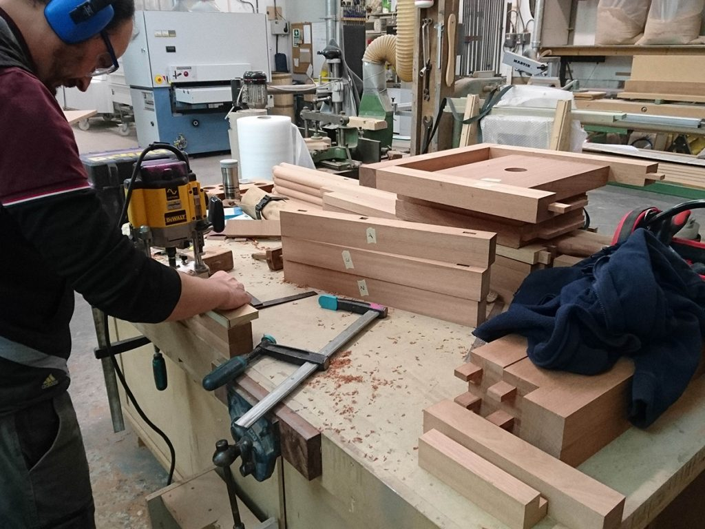 Milling the components for bespoke table