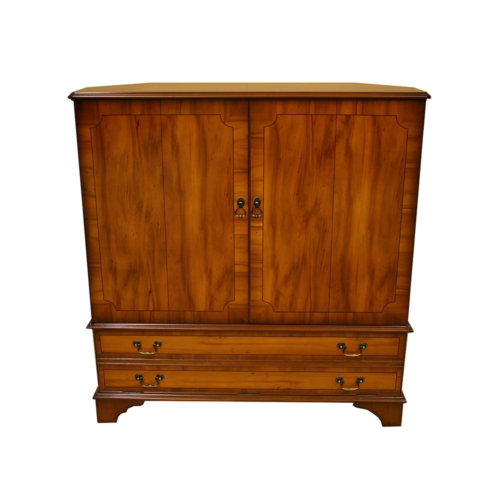 huge discount a7bcc 664c6 Fully Enclosed TV Cabinet - in Mahogany/Yew/Oak/Walnut/ Poplar -  Reproduction Furniture