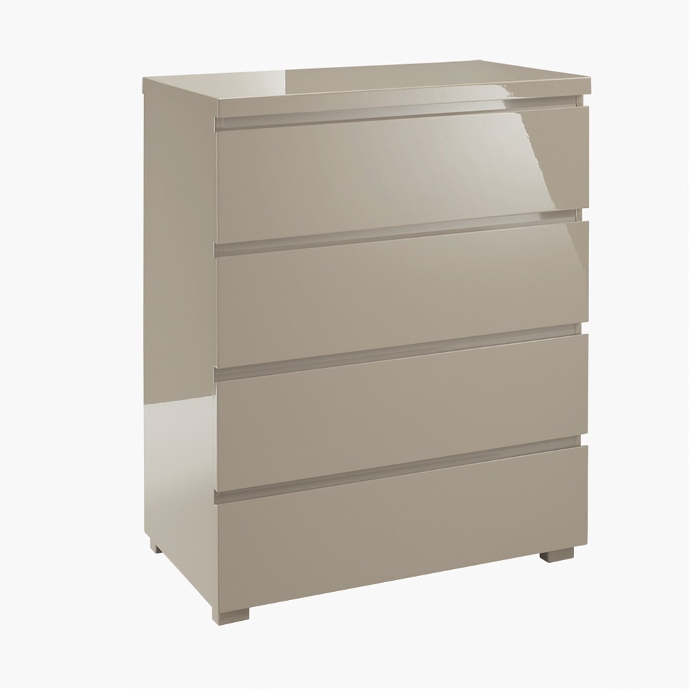 4 Drawer Chest - Modern Stone Bedroom Furniture Collection