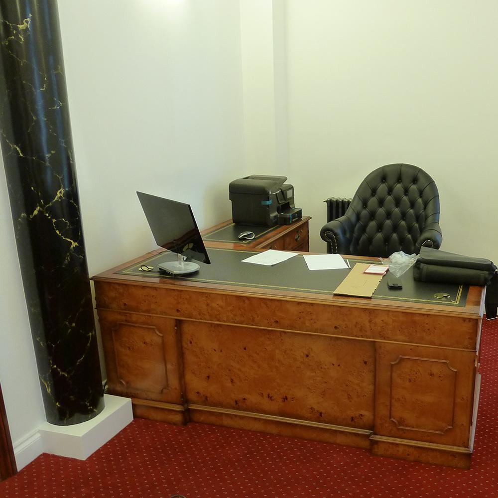 Poplar L Shape Desk Bespoke