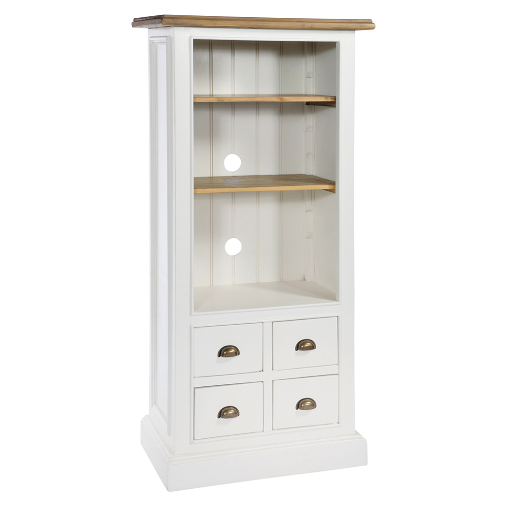 Tall Bookcase With 4 Drawers
