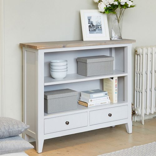 Low Bookcase - Scandinavian Grey Living Collection