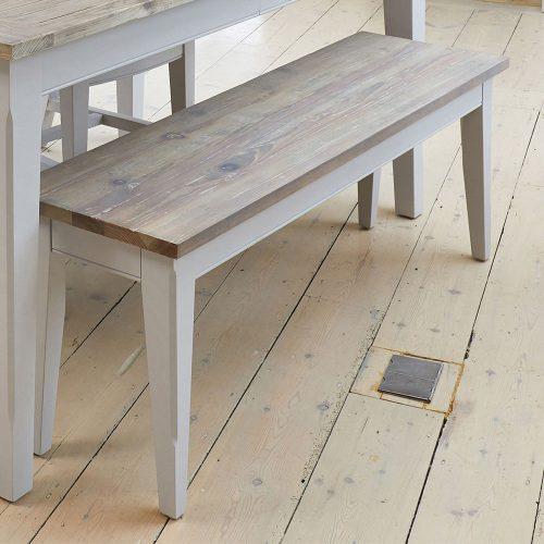 Scandinavian Grey Living Bench