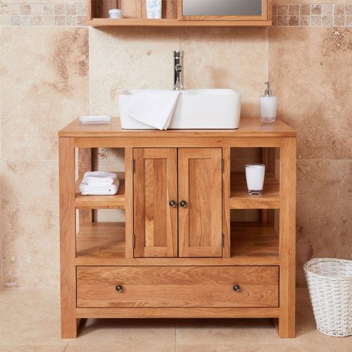 Two Door Single Sink Unit - Round or Square