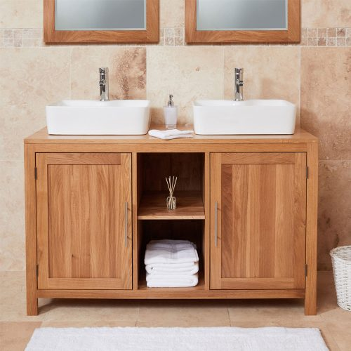Dual Sink Unit with Two Doors