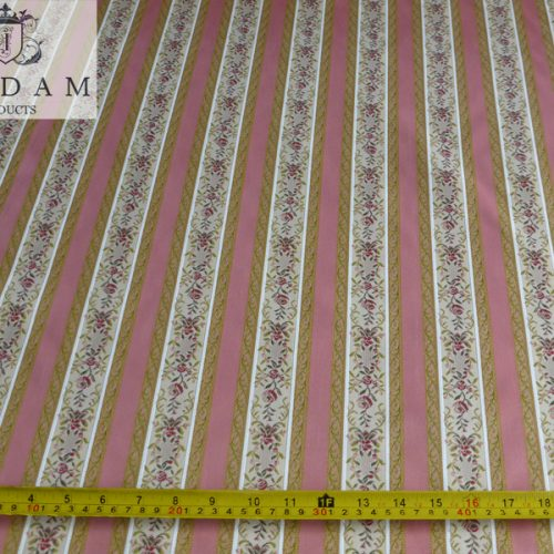 Pink Regency Stripe Fabric